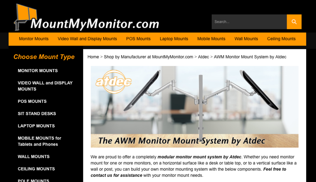 AWM Monitor Mount System by Atdec